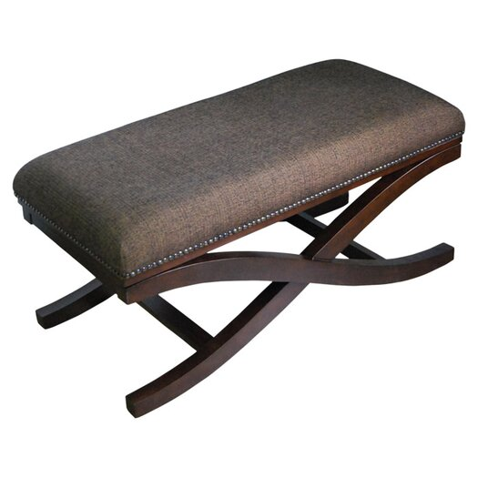 HomePop Large Cocktail X Wooden Bench
