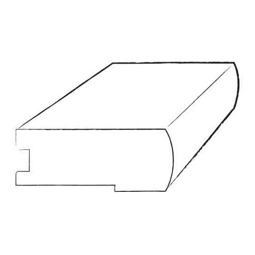 """Armstrong 0.38"""" x 2.75"""" Walnut Stair Nose in Smoke Gray"""