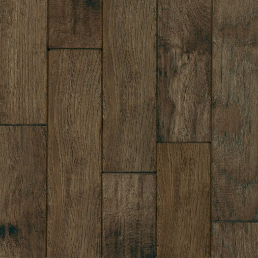 "Armstrong Century Farm Hand-Sculpted 5"" Engineered Hickory Flooring in Mountain Smoke"