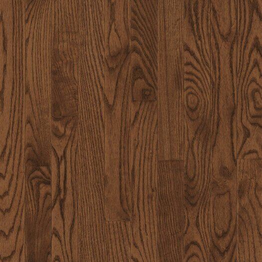 """Armstrong Yorkshire Plank 3-1/4"""" Solid White Oak Flooring in Umber"""