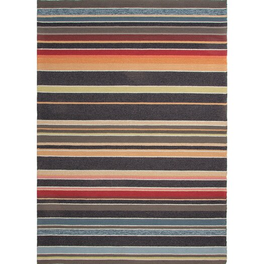 Jaipur Rugs Colours I-O Charcoal Stripe Indoor/Outdoor Area Rug