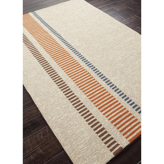Jaipur Rugs Grant Design I-O Beige/Orange Stripe Indoor/Outdoor Area Rug