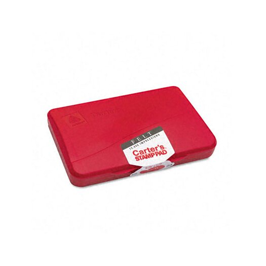 Carter's® Felt Stamp Pad, 4.25w x 2.75d, Red