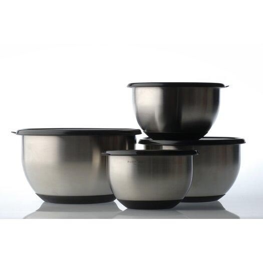 BergHOFF International Geminis Stainless Steel 8-Piece Mixing Bowl Set
