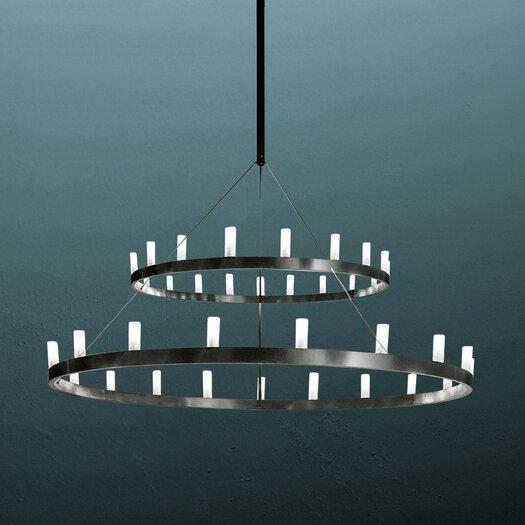 FontanaArte Chandelier Two Tier Hanging Lamp