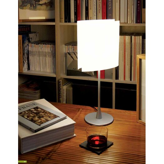 "FontanaArte Sara 18.5"" H Table Lamp with Drum Shade"