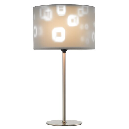 "Adesso Mystic 22"" H Table Lamp with Drum Shade"