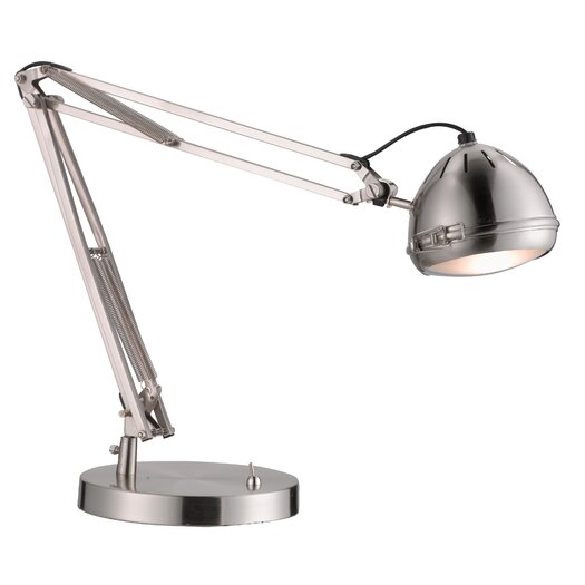 """Adesso Sherlock LED 26.25"""" H Table Lamp with Bowl Shade"""