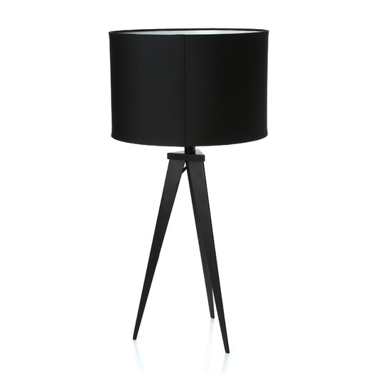 """Adesso Director 28"""" H Table Lamp with Drum Shade"""
