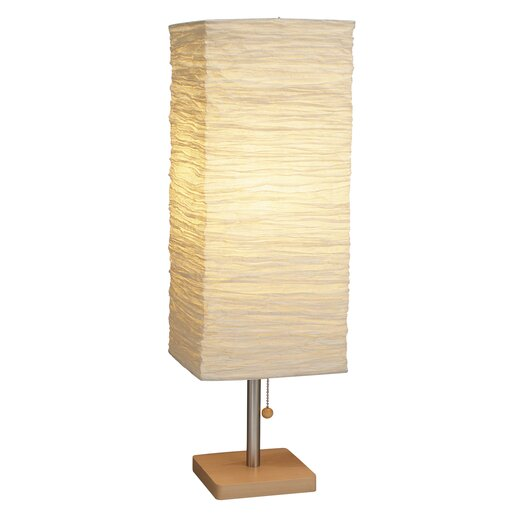 "Adesso Dune 25"" H Table Lamp with Square Shade"