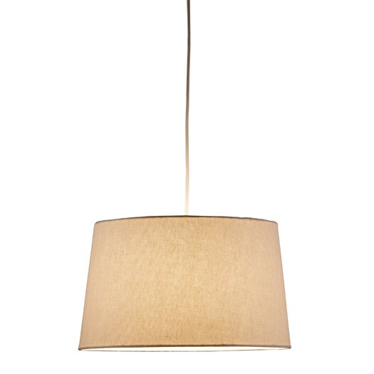 Adesso Harvest 1 Light Drum Pendant II