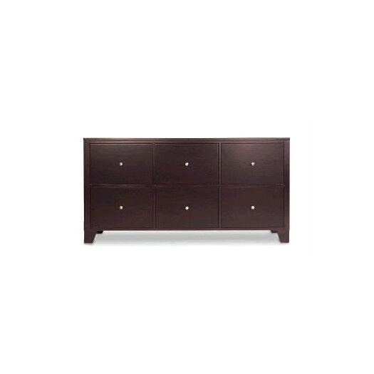 LifeStyle Solutions 500 Series 6 Drawer Dresser with Metal Knobs