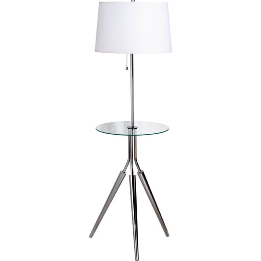 Wildon Home ® Nowles Floor Lamp with Glass Tray