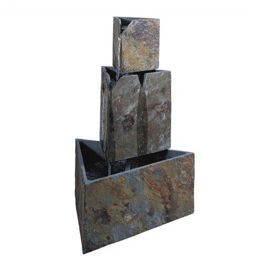 Wildon Home ® Hillsborough Stacked Triangles Floor Fountain