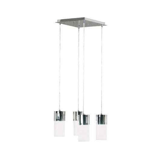Wildon Home ® Cylinder 4 Light Square Island Pendant