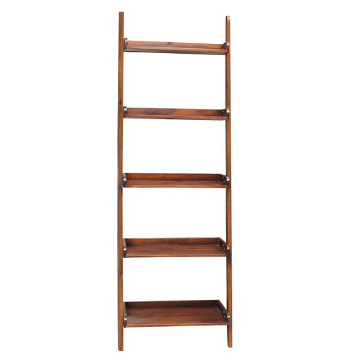 """International Concepts Lean-to 75.5"""" Bookcase"""