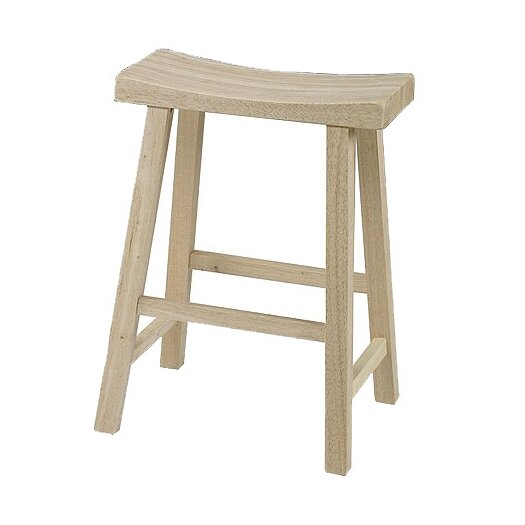 "International Concepts Saddleseat 23.75"" Bar Stool"