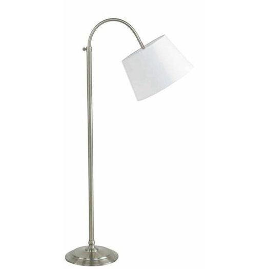 Fangio Lighting Adjustable Floor Lamp with Hardback Linen Shade