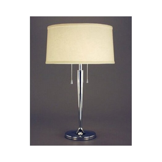 "Fangio Lighting Zhenni 29"" H Table Lamp with Drum Shade"