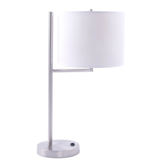 "Fangio Lighting Modern 20"" H Table Lamp with Drum Shade"