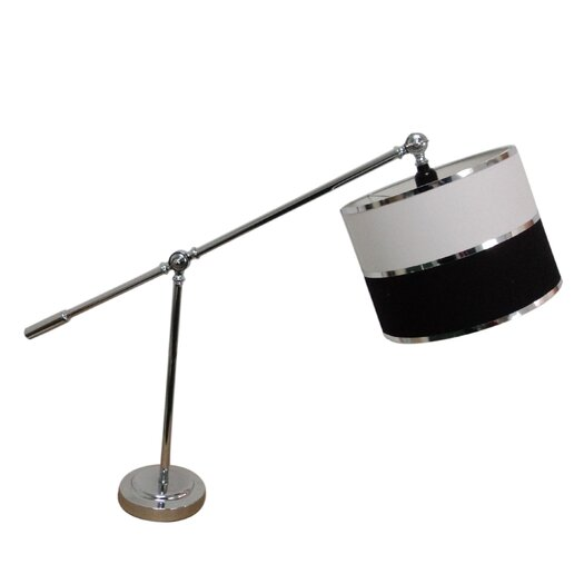 "Fangio Lighting Modern 28"" H Table Lamp with Drum Shade"