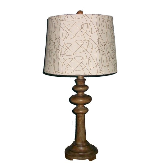 "Fangio Lighting Resin 28"" H Table Lamp with Empire Shade"