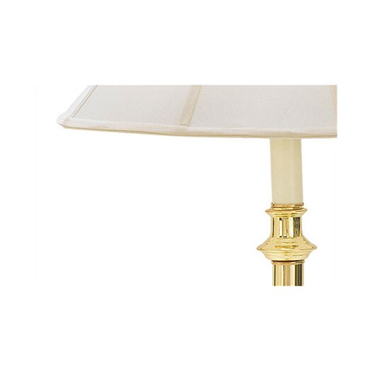 Fangio Lighting Floor Lamp with Glass Tray Table