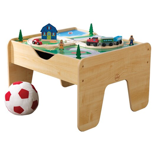 KidKraft 2-in-1 Lego and Train Activity Table