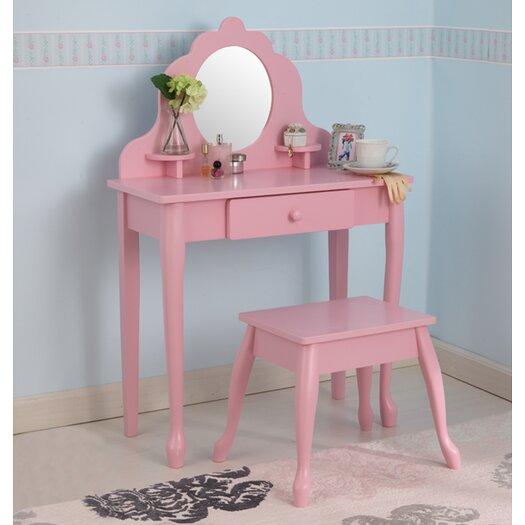 KidKraft Diva Vanity Set with Mirror in Pink