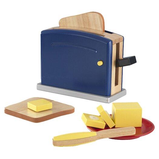 KidKraft 9 Piece Primary Toaster Set