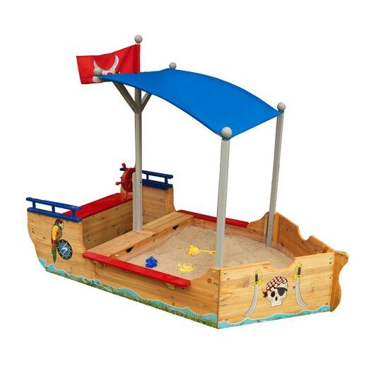 KidKraft Pirate 6' Rectangular Sandbox