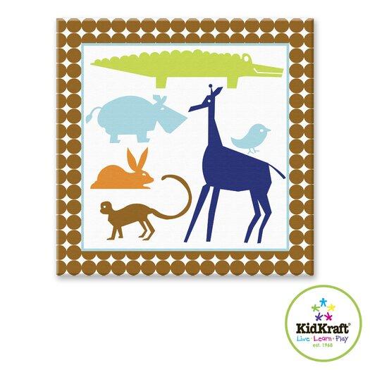 KidKraft Boy Animals Canvas Art