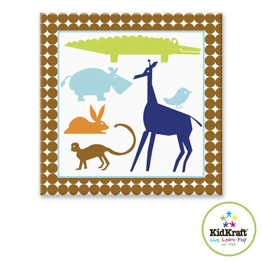 KidKraft Boy Animals Canvas Art