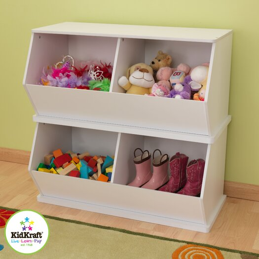 KidKraft Double Storage Unit in White