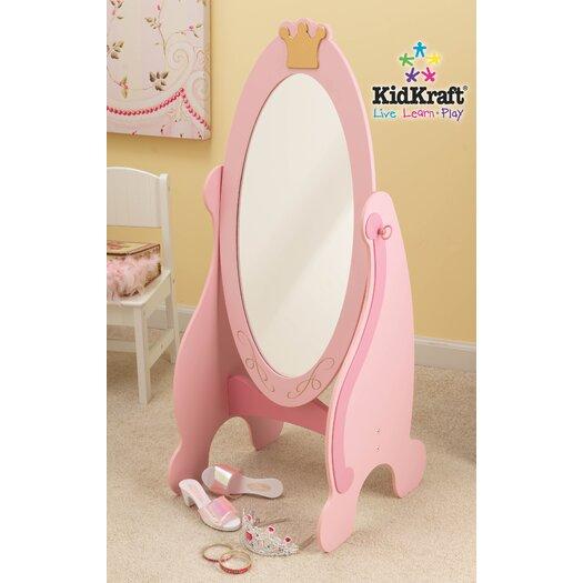 "KidKraft Princess 40.55"" H x 19"" W Cheval Mirror"