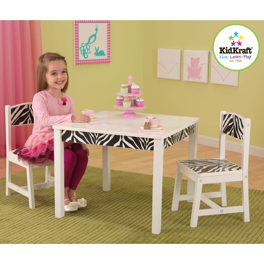 KidKraft Fun and Funky Kids' 3 Piece Table and Chair Set