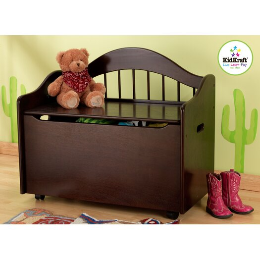 KidKraft Limited Edition Toy Box in Espresso