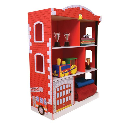 "KidKraft Firefighter Firehouse 38"" Bookcase"