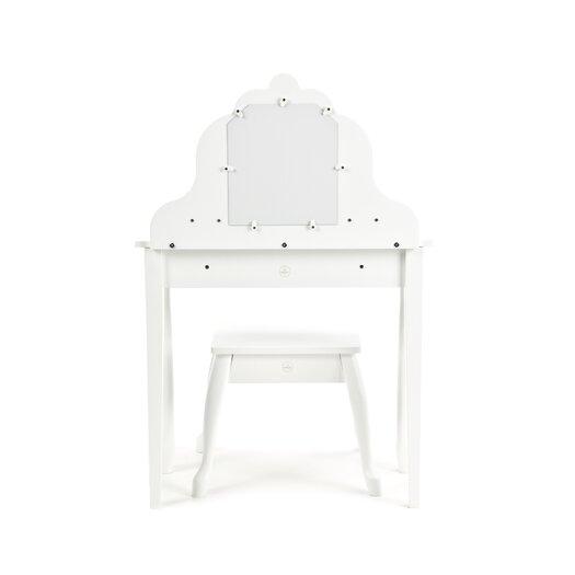 KidKraft Diva 2 Piece Vanity Set with Mirror in White