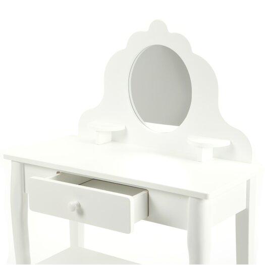 KidKraft Diva Vanity Set with Mirror in White