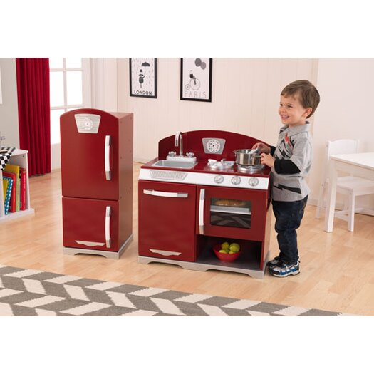 KidKraft 2 Piece Cranberry Retro Kitchen Set