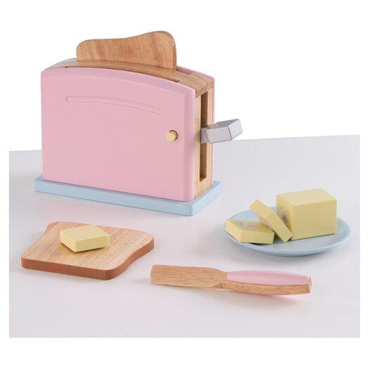 KidKraft 9 Piece Pastel Kitchen Toaster Set