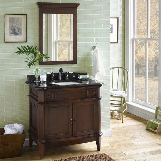 "Ronbow Traditions Solerno 37"" W Wood Café Walnut Vanity Set"