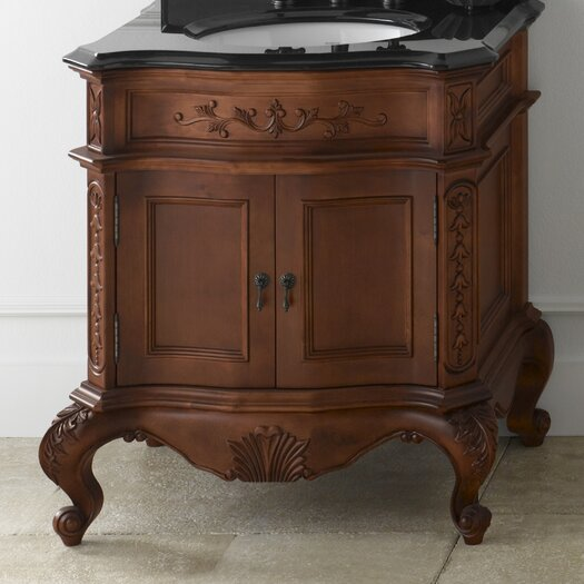 """Ronbow Vintage Bordeaux 32"""" W Antique Style Colonial Cherry Vanity Base"""