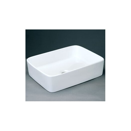Ronbow Rectangle Ceramic Vessel Bathroom Sink without Overflow