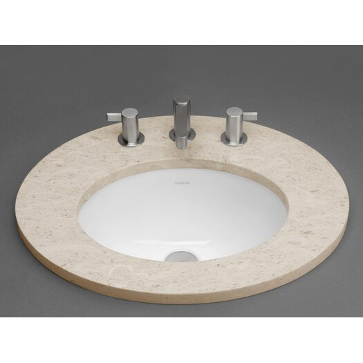 Ronbow Oval Ceramic Undermount Bathroom Sink with Overflow