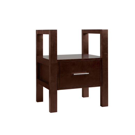 """Ronbow Contempo 29.75"""" H x 36.5"""" W Dark Cherry Wood Stand"""