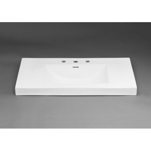 Ronbow Ceramic Rectangle Bathroom Sink with Overflow