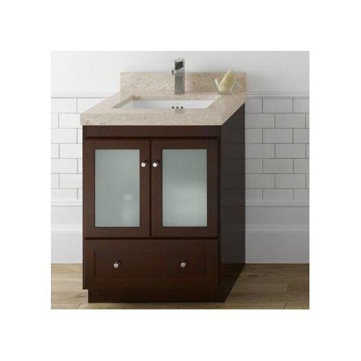 "Ronbow Modular 30"" Shaker Bathroom Vanity Base with Glass"
