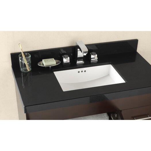 """Ronbow 37""""  Appeal Vanity Top for Undermount Sink with Thickness"""